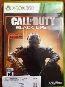 GAMERS: CALL OF DUTY BLACK OPS 3 XBOX 360