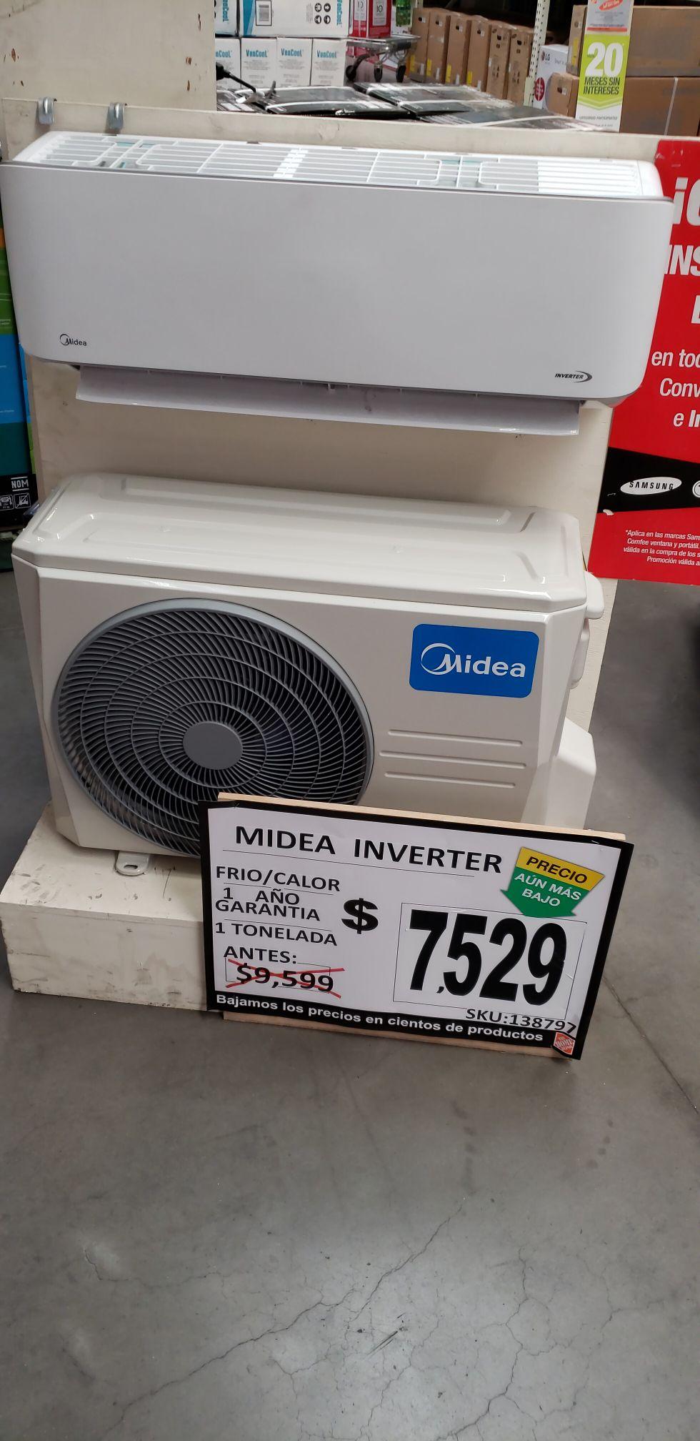 Home Depot: Aire acondicionado Inverter Frío/Calor Midea