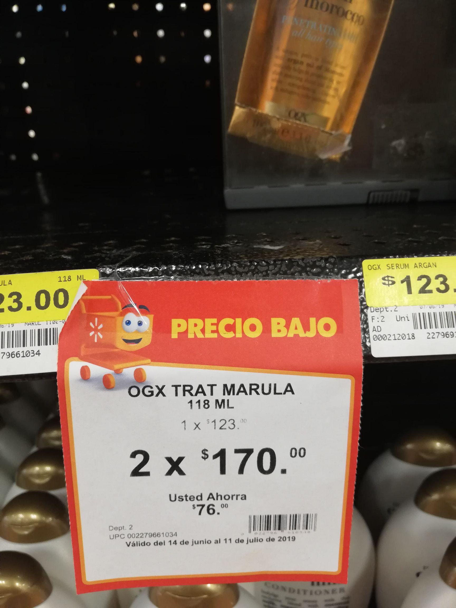 Walmart Buenavista: Ogx aceite de argan