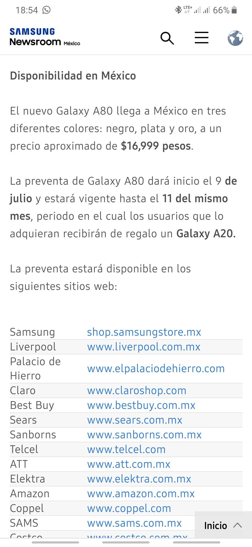 Preventa Samsung A80