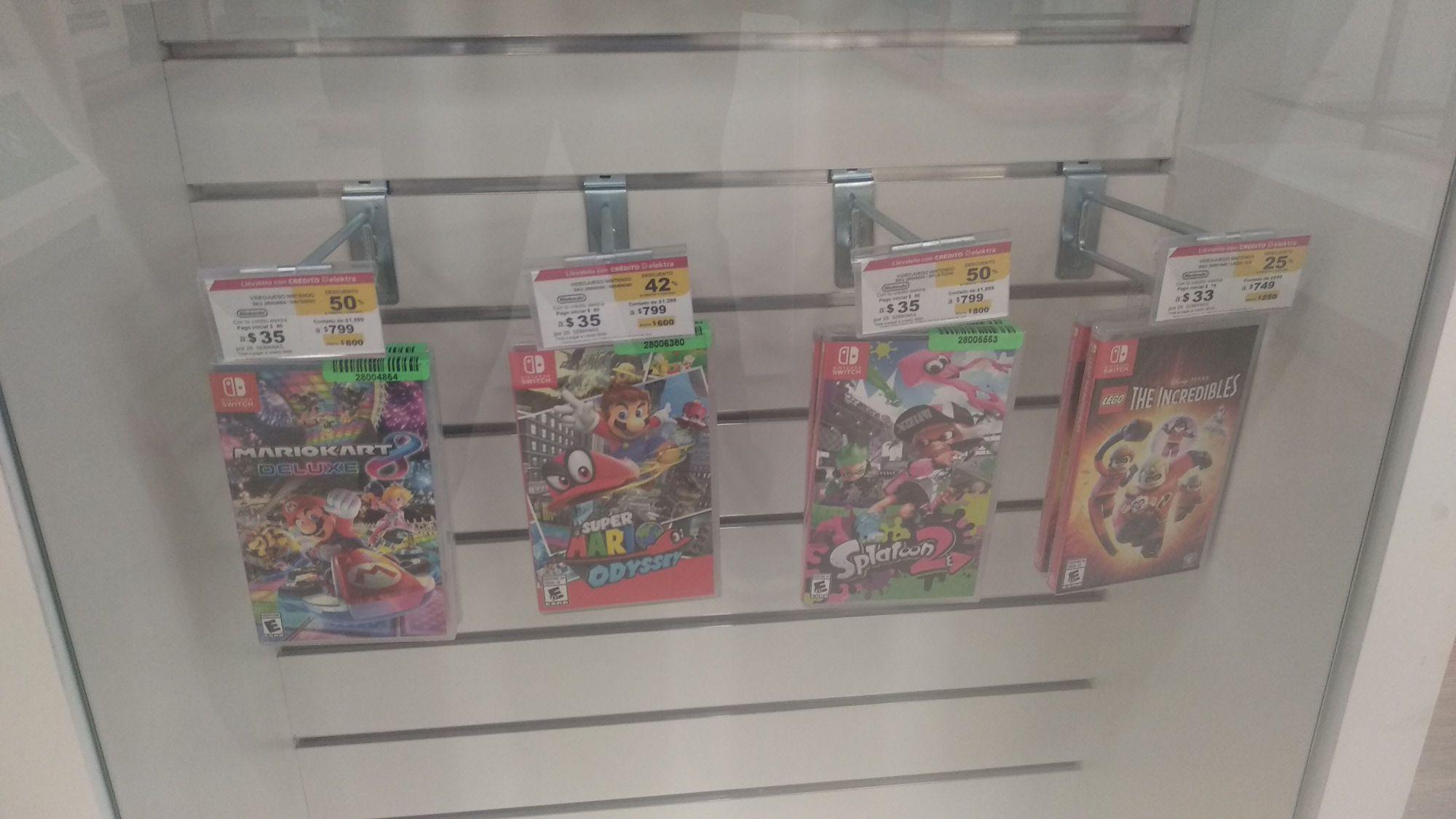 Elektra Xalisco: Varios juegos para Nintendo switch con descuento