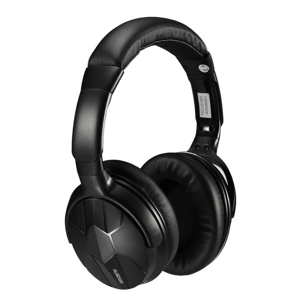 AUSDOM M04S HiFi NFC Bluetooth 4.0 Stereo Over-ear Headphones - Black