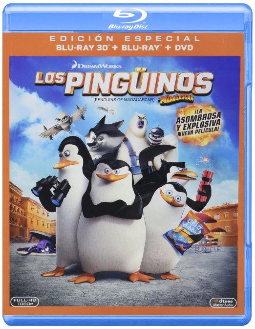 Amazon blu-ray 3D pinguinos de madagascar