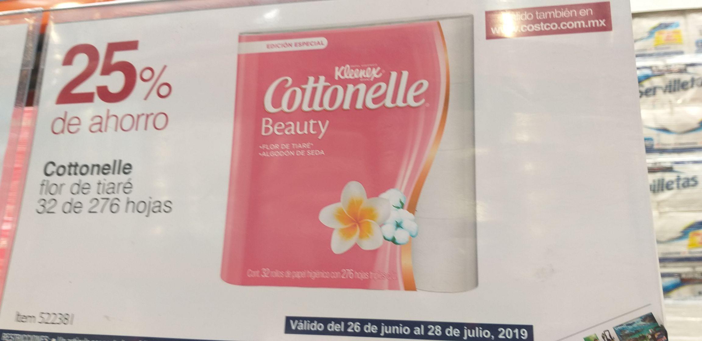 Costco: Cottonelle flor tiare papel higiénico