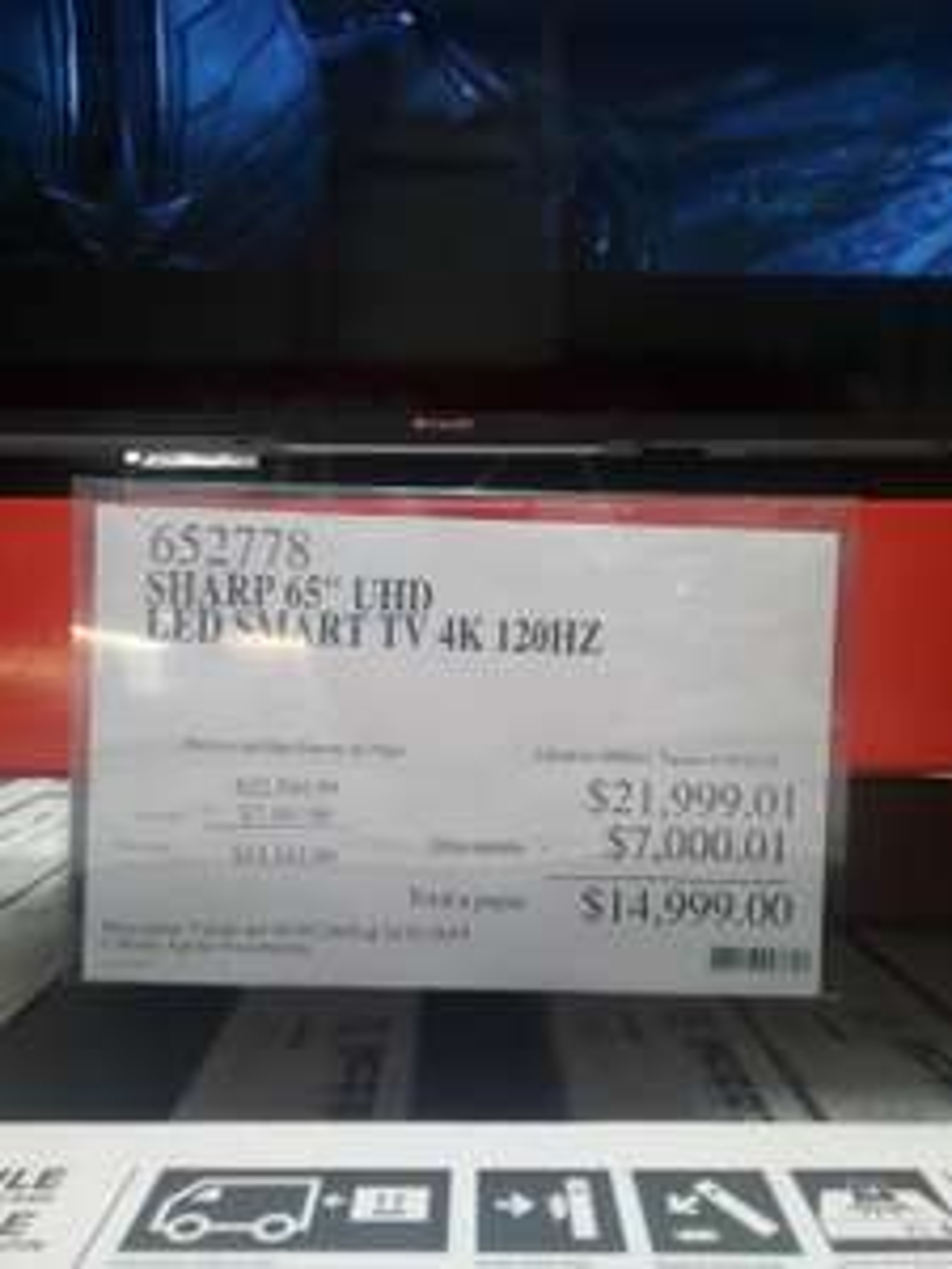 "Costco Xalapa: Sharp 65"" 4k smart TV"