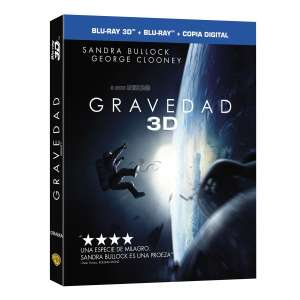 Sears y Claro Shop: Gravedad -Alfonso Cuarón Blu-ray 3D + Blu-ray + Descarga Digital