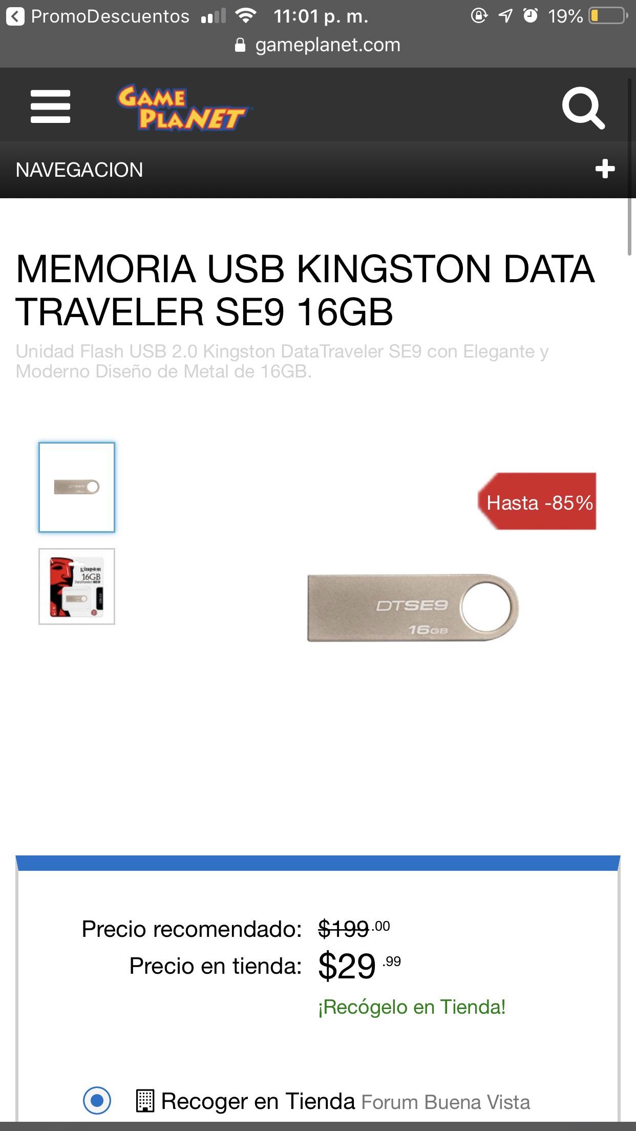 Game Planet: Memoria USB 16GB