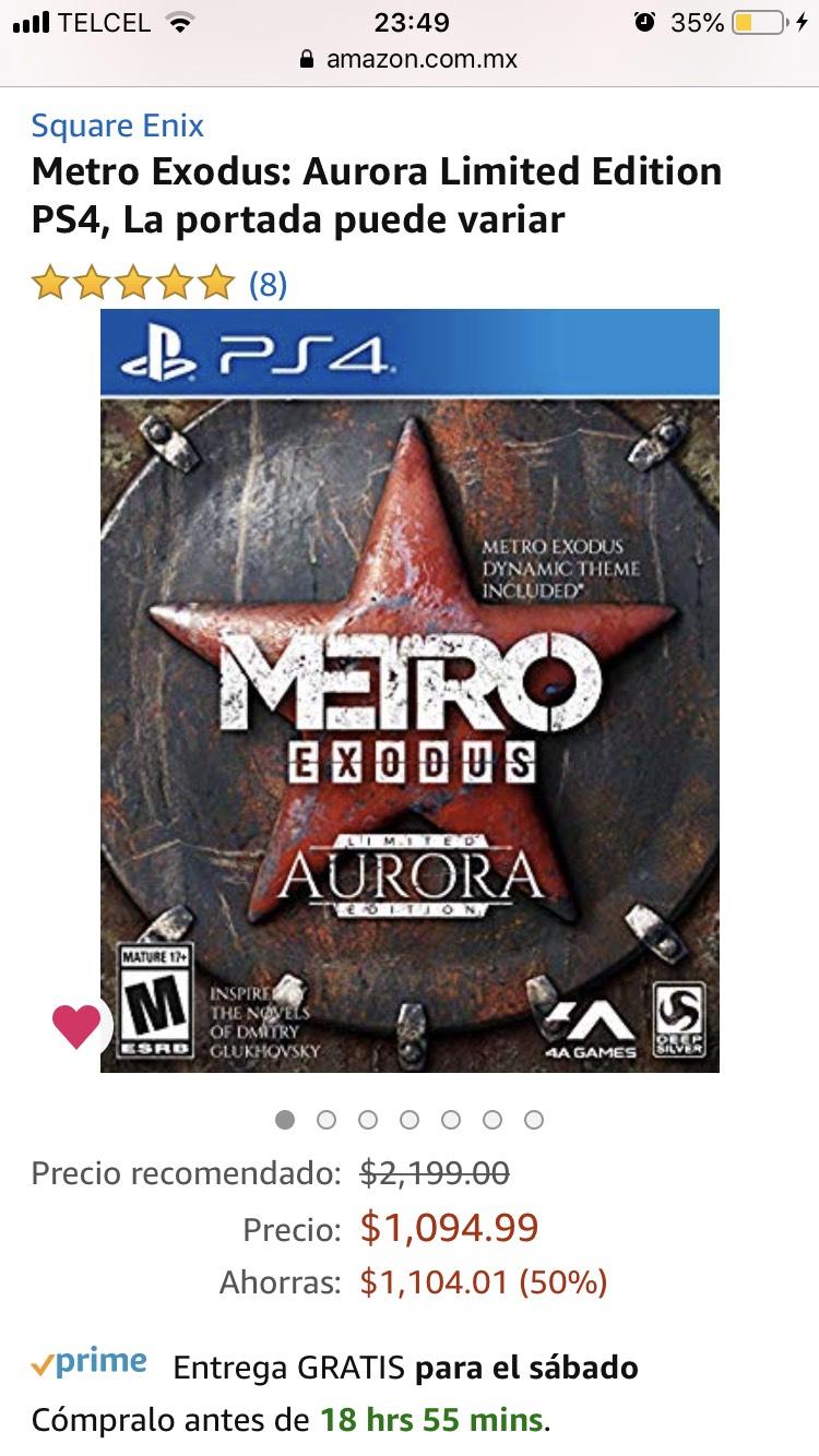 Amazon: Metro Exodus ps4 edición limitada Aurora