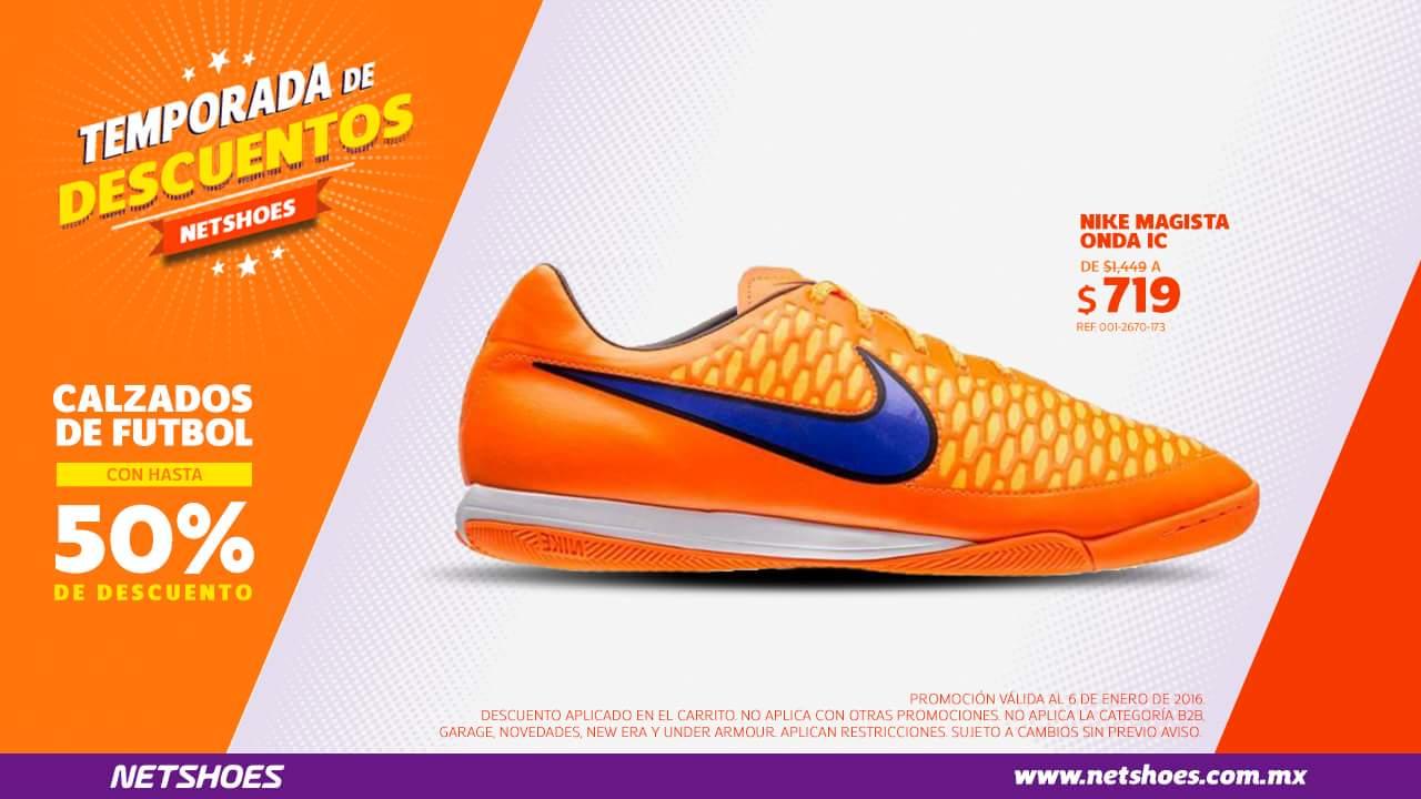 Netshoes: Calzados de futbol con hasta 50% de descuento