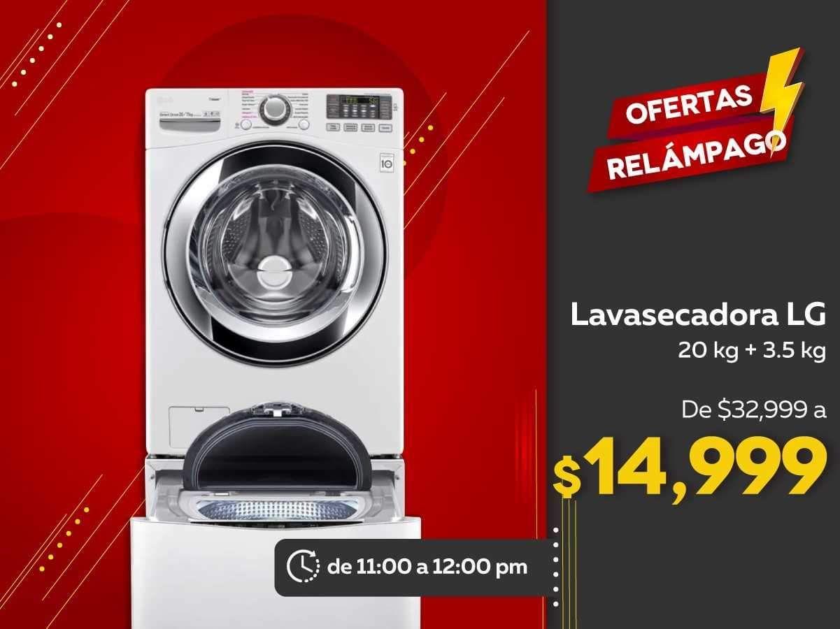Elektra: Lavasecadora LG TwinWash WD20WVS6 20 kg + 3.5 kg