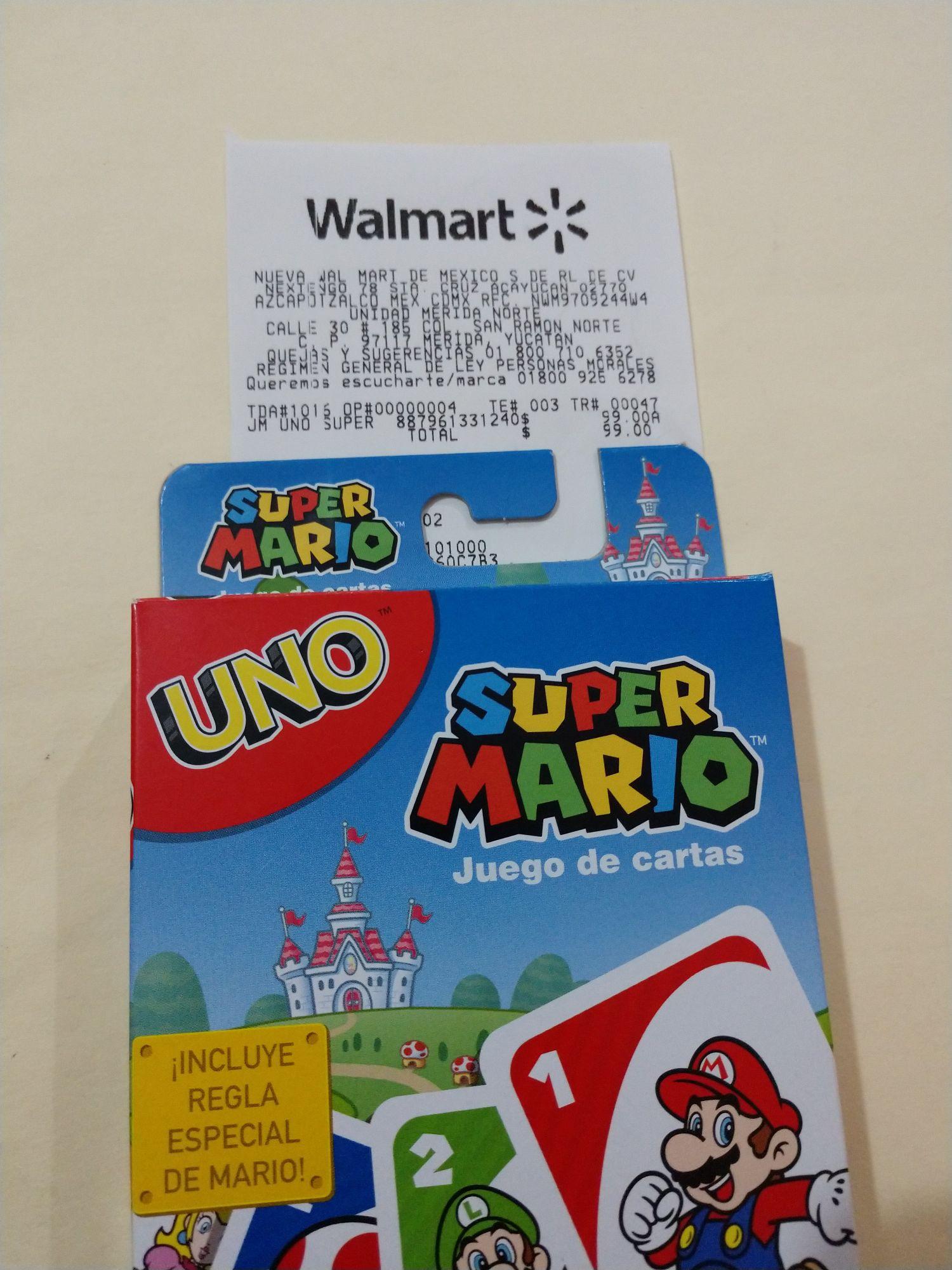 Walmart: UNO Super Mario
