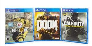 coppel Doom, Fifa 17 y Call of Duty: Infinite Warfare para PS4