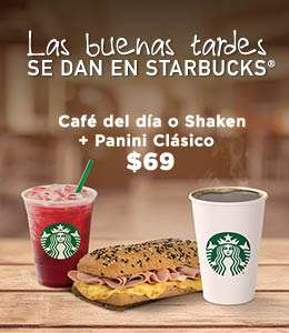Starbucks COMBO PANINI CLÁSICO Y LIMONADA