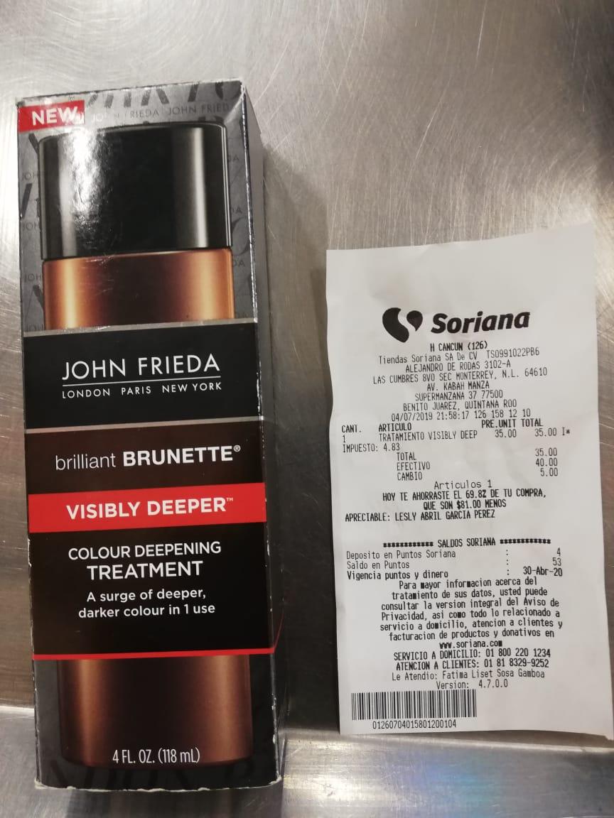 Soriana hiper:  Tratamiento capilar visibly deeper John Frieda
