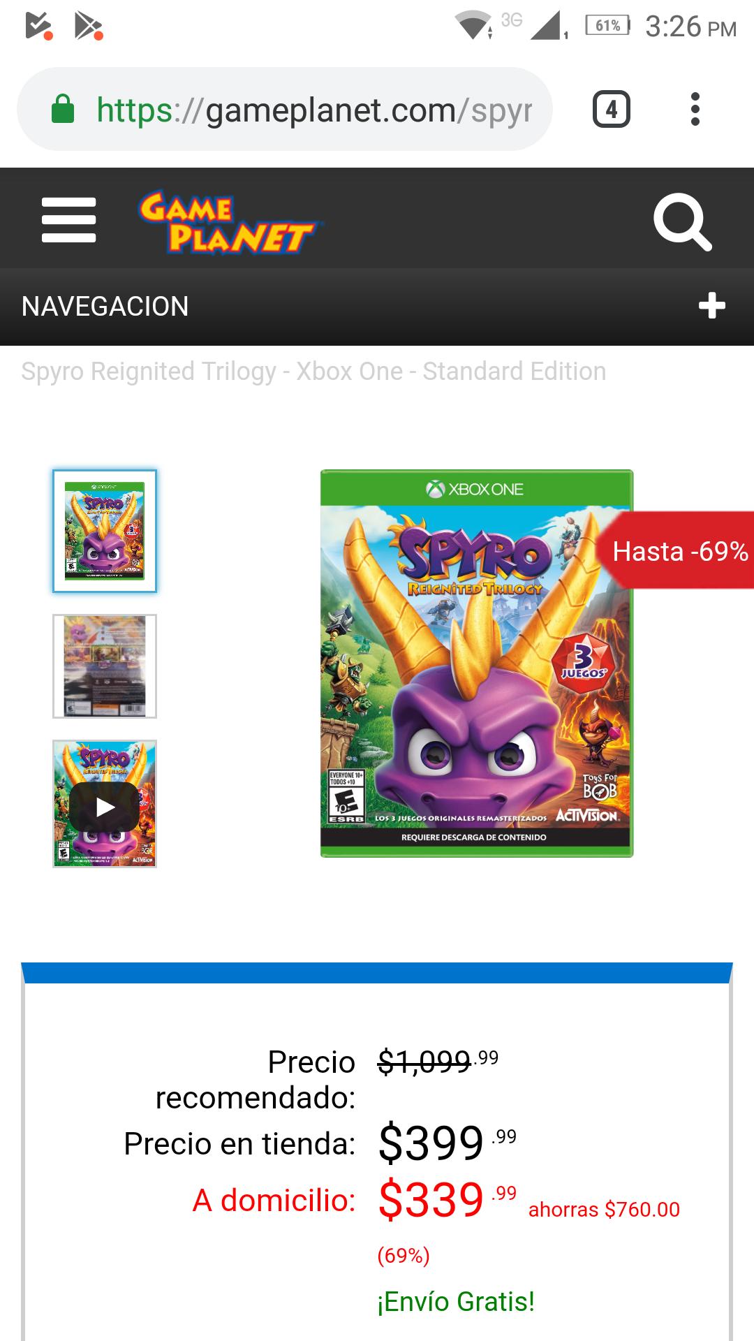 Gameplanet Spyro solo en Xbox one