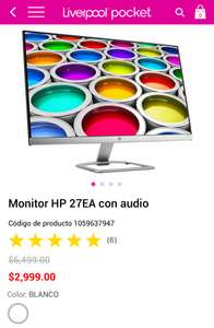Liverpool Monitor Hp 27""