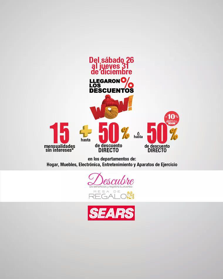 Sears llegaron los descuentos en ciertas areas