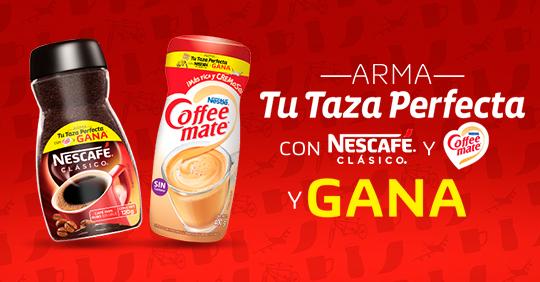 Nescafe y Coffe Mate: Gana 2 boletos para Cinépolis con combo de dulcería, un viaje, bicicleta para 2 personas o producto a mitad de precio
