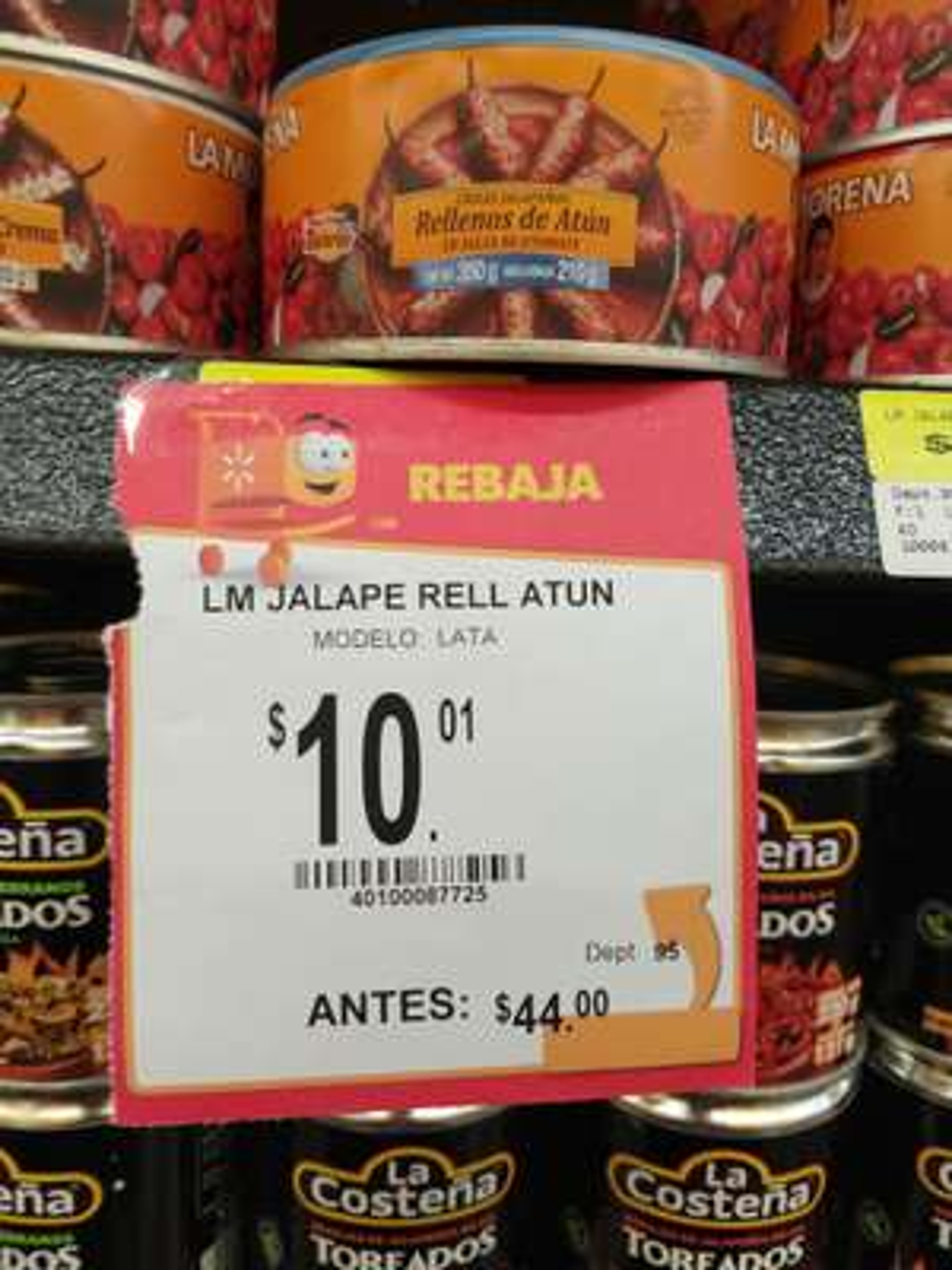 Walmart : Chiles jalapeños rellenos de atún $10.01