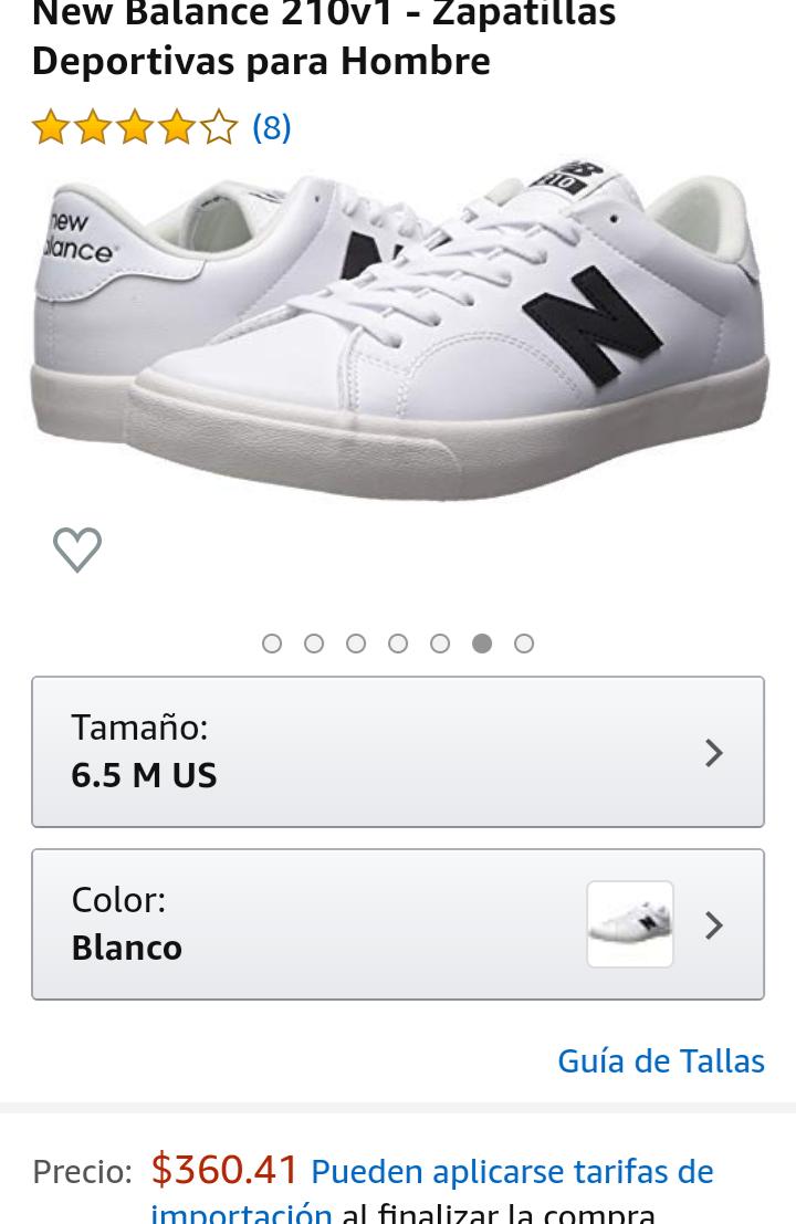 Amazon: New Balance tenis 24.5Mx blanco hombre