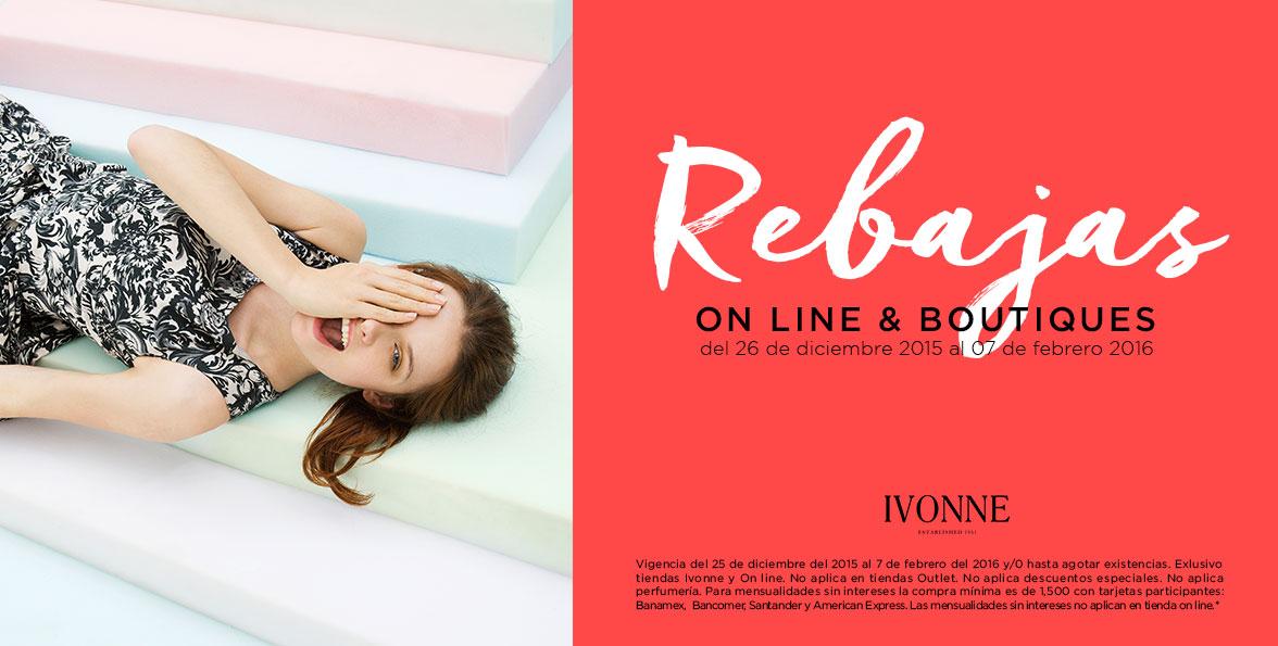 Ivonne online & boutiques: Rebajas de hasta 40% de descuento y 6 msi con tarjetas participantes