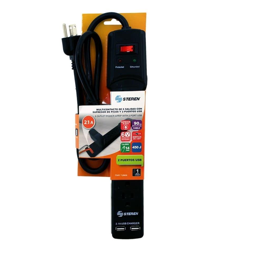 Walmart: Multicontacto con 2 entradas USB - Steren
