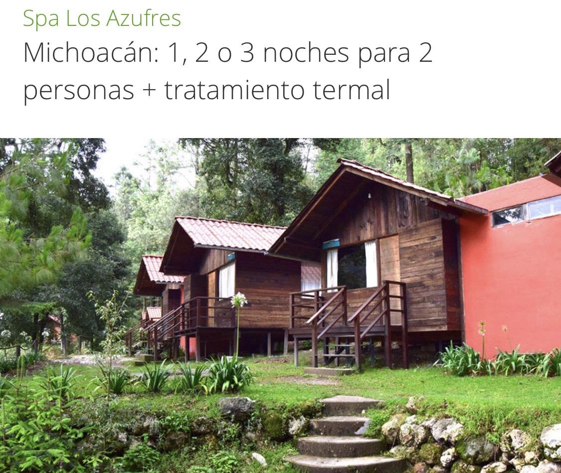 Groupon: Spa Los Azufres en Michoacán - 1, 2 o 3 noches para 2 personas + tratamiento termal desde $649