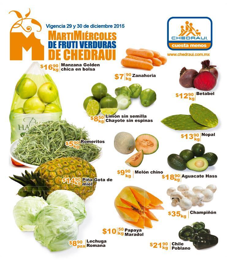 Martimiércoles en Chedraui 29 y 30 de diciembre