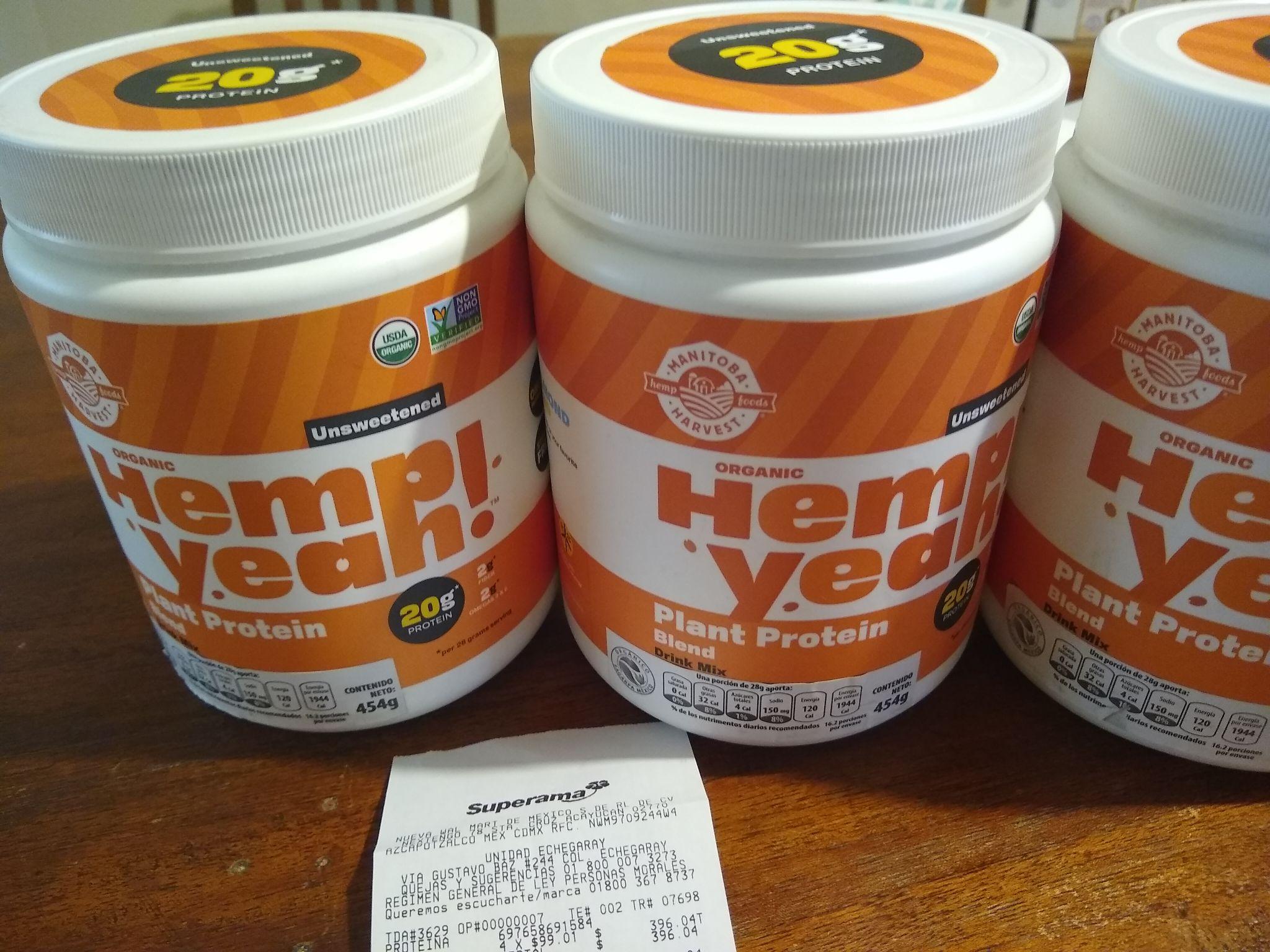 Superama Proteína Hemp USDA Organic de $499 a