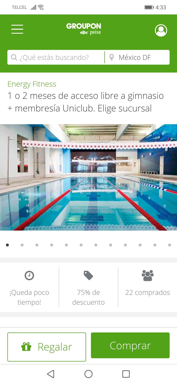 Groupon: 1 o 2 meses de acceso libre a gimnasio + membresía Uniclub.