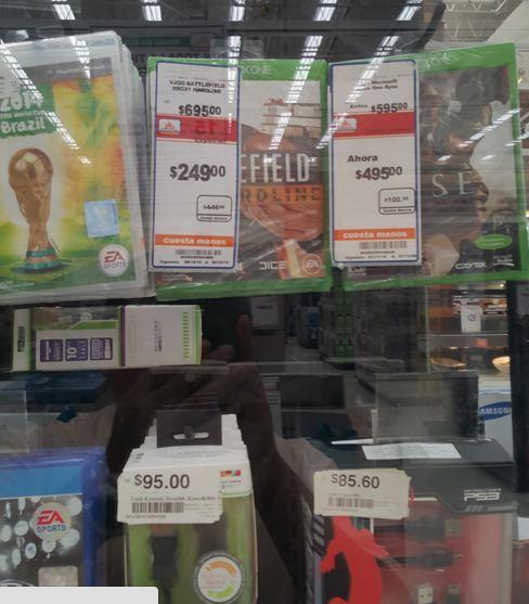 Juegos de Xbox One y Ps4 Chedraui Selecto Mérida Siglo XXI. Ej. Battlefield Hardline $249
