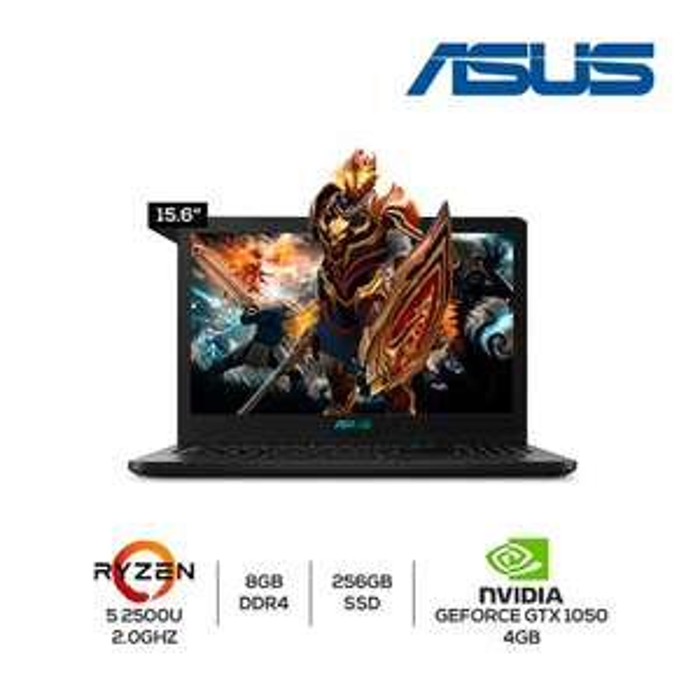 Walmart en linea: Laptop Asus Ryzen 5 y GTX 1050 4gb