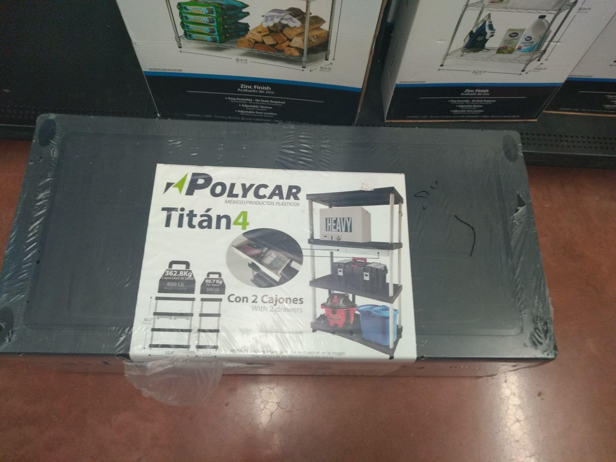 Walmart: estante Titán 4 niveles y dos cajones en 126.01