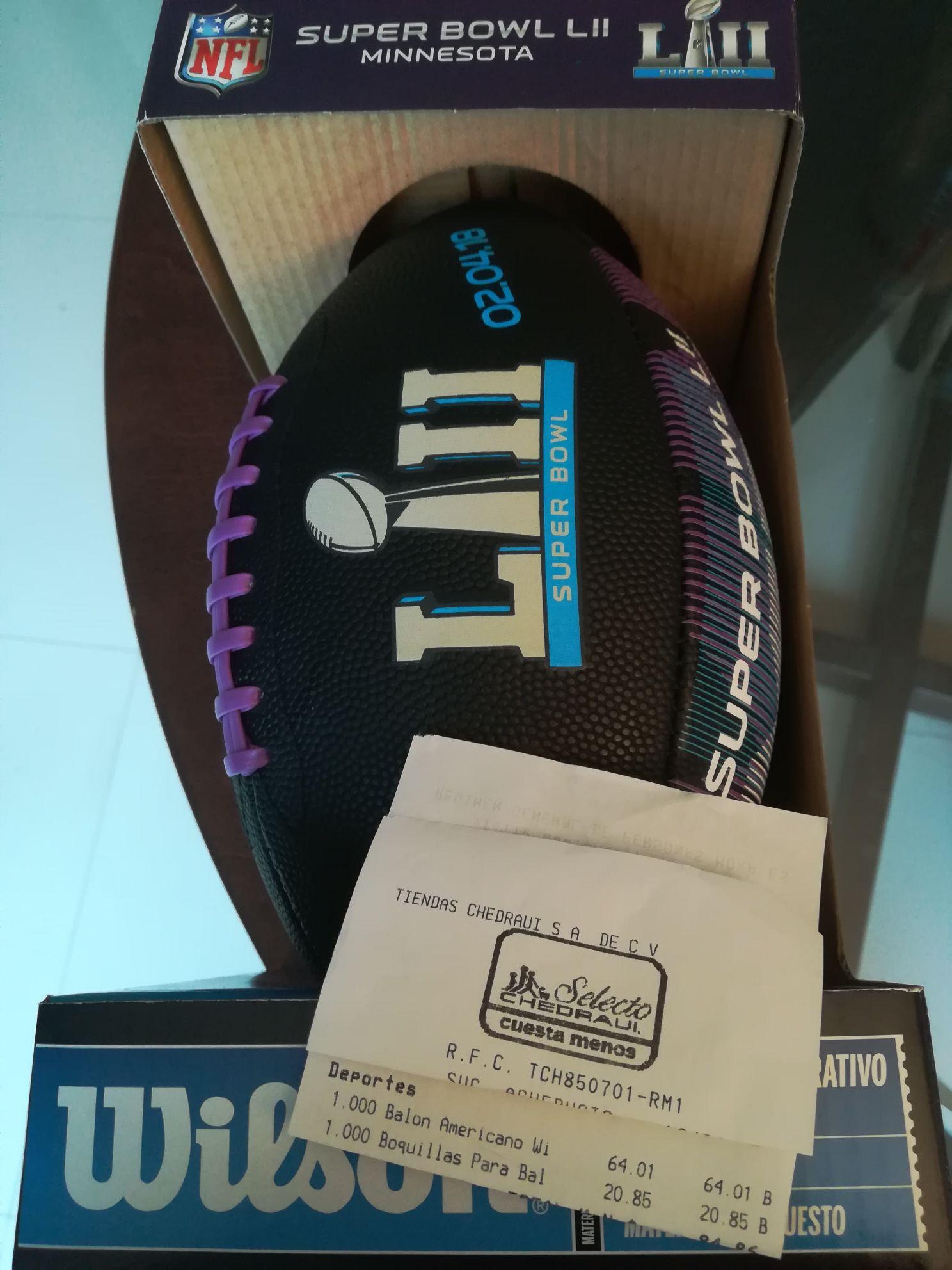 Chedraui: Balón conmemorativo Super Bowl wilson