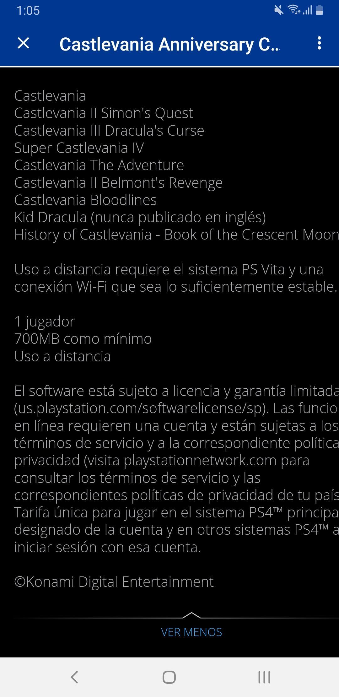 Playstation Store: Castlevania anniversary collection - 8 juegos para disfrutarlos en ps4