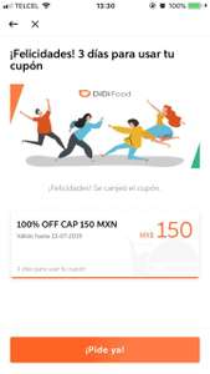Didi food: cupón de $150