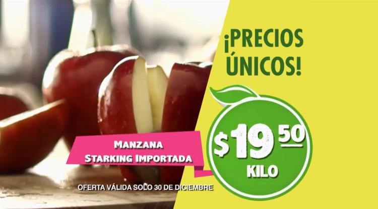 Miércoles de Plaza en La Comer diciembre 30: Manzana Starking a $19.50 el kilo y más