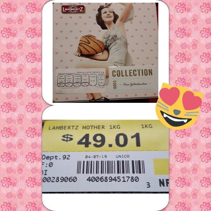 Walmart: caja metalica de galletas Lambertz 49.01