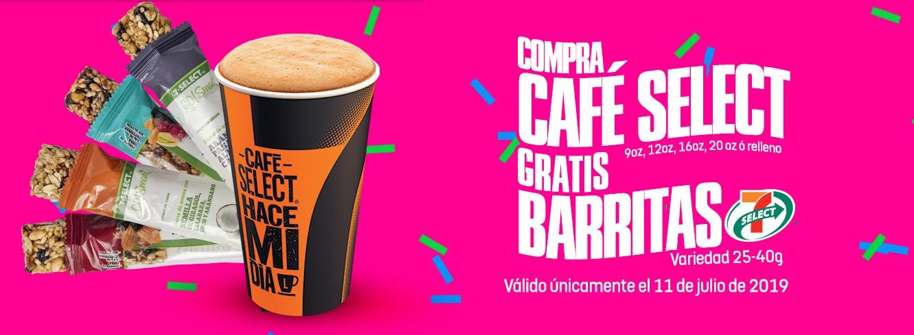 7 Eleven: Gratis Barritas al comprar Café Select