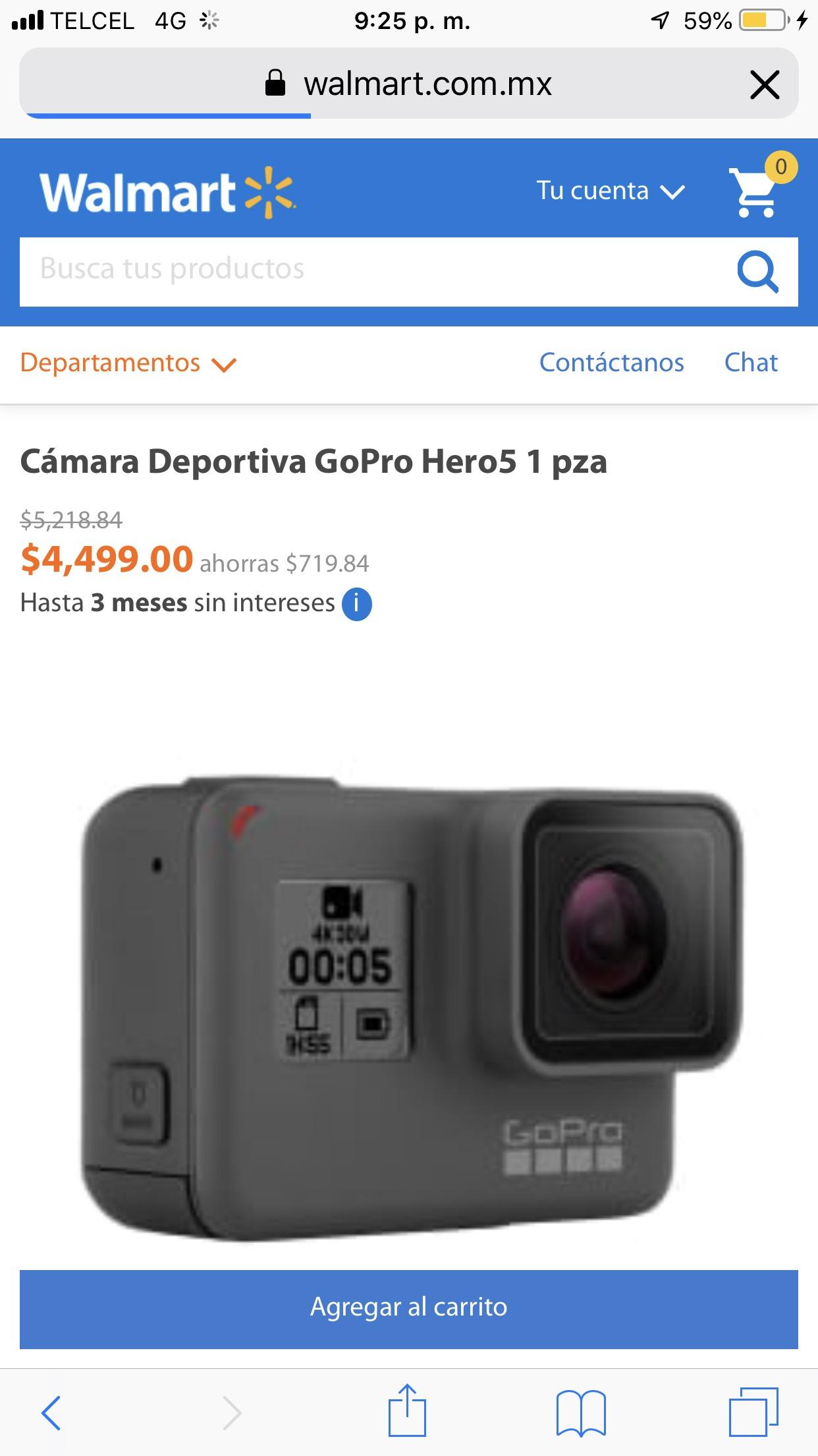Walmart: Gopro hero 5 black