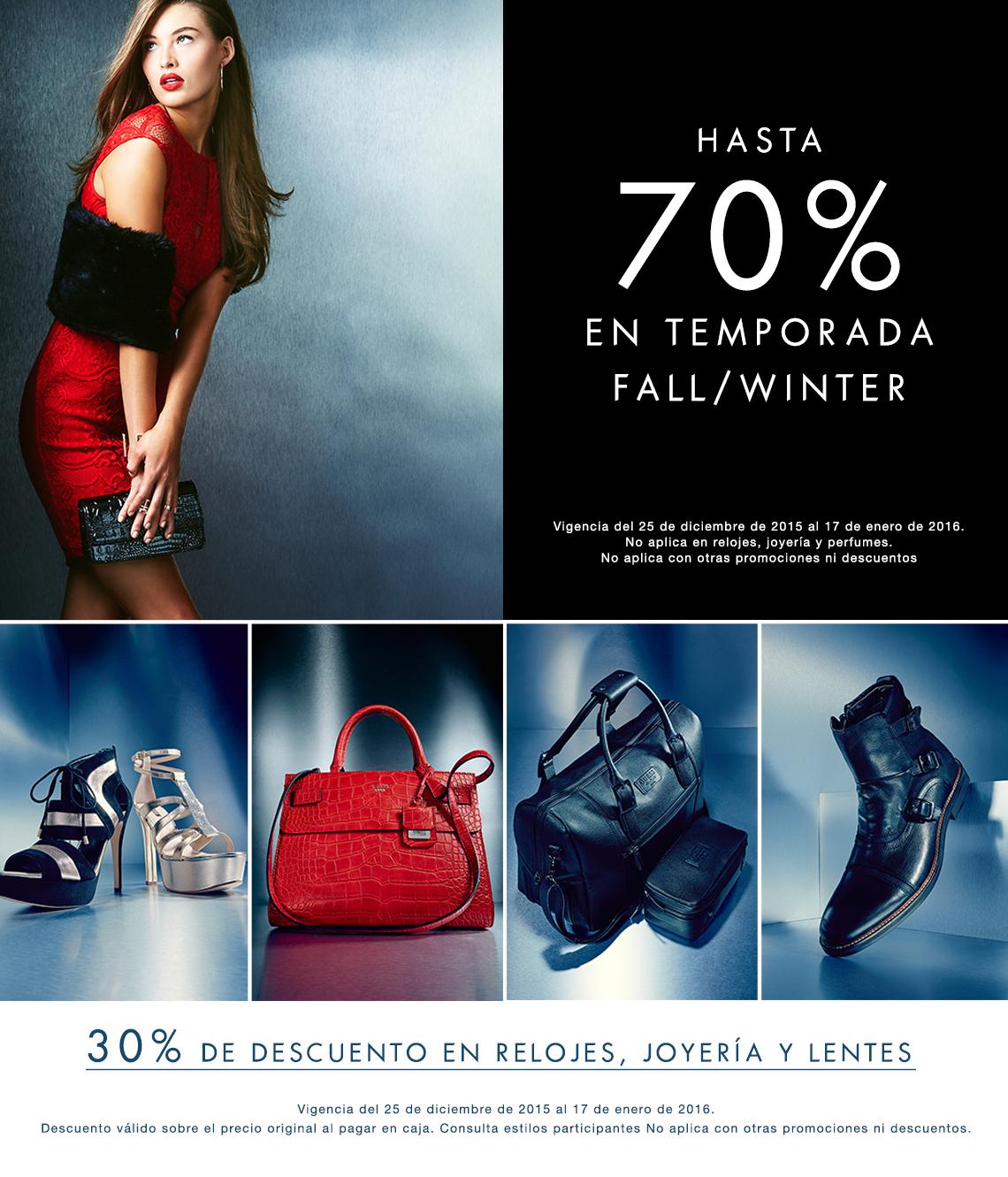 GUESS: Hasta 70% de descuento en temporada fall/winter (MUY RECOMENDADO)