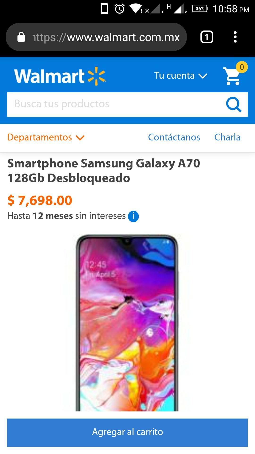 Walmart: Galaxy a70