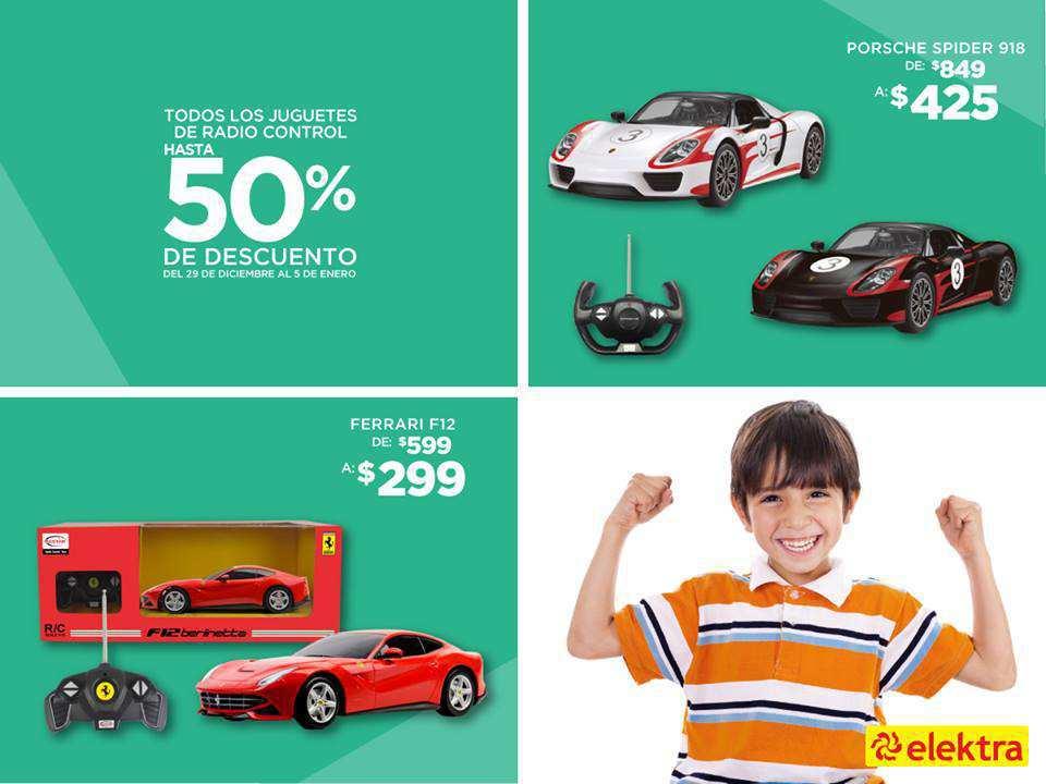 ELEKTRA: 50% De descuento en todos los juguetes de radio control