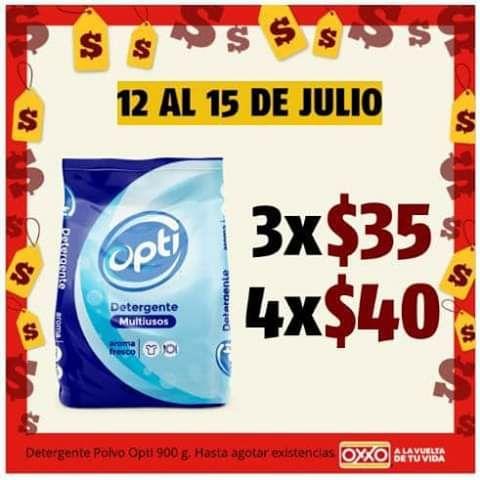 Oxxo: Jabón Opti 3 x $35  o  4 x $40