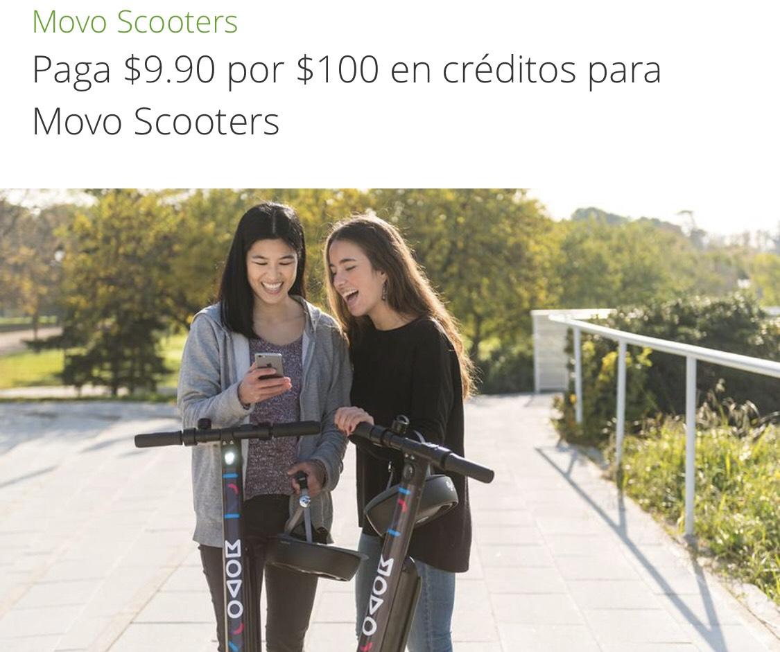 Groupon En CDMX. Paga $9.90 por $100 en créditos para Movo Scooters !! (NUEVOS USUARIOS)