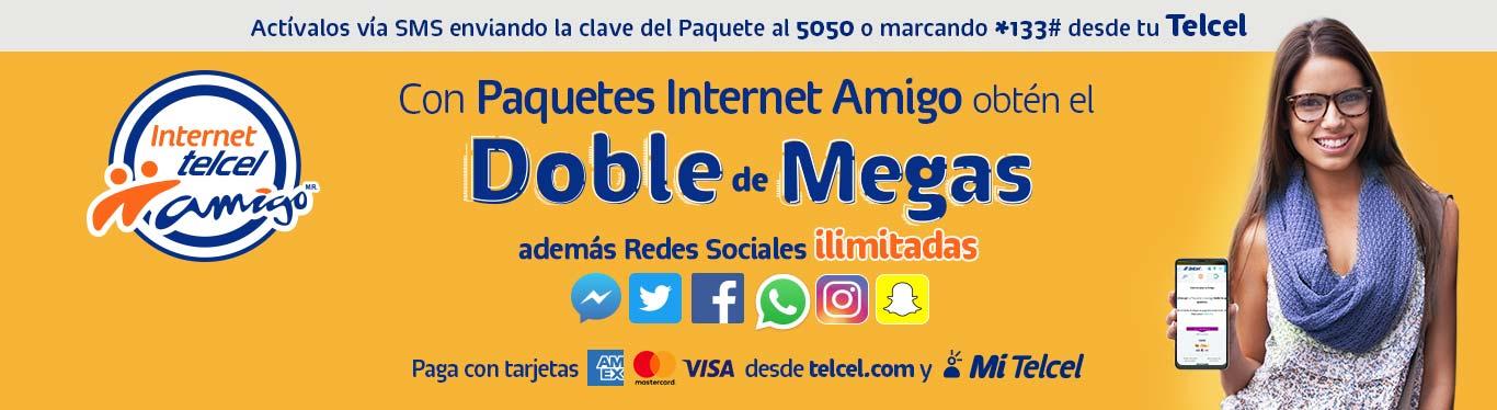 Con paquetes internet amigo de Telcel obtén el doble de megas