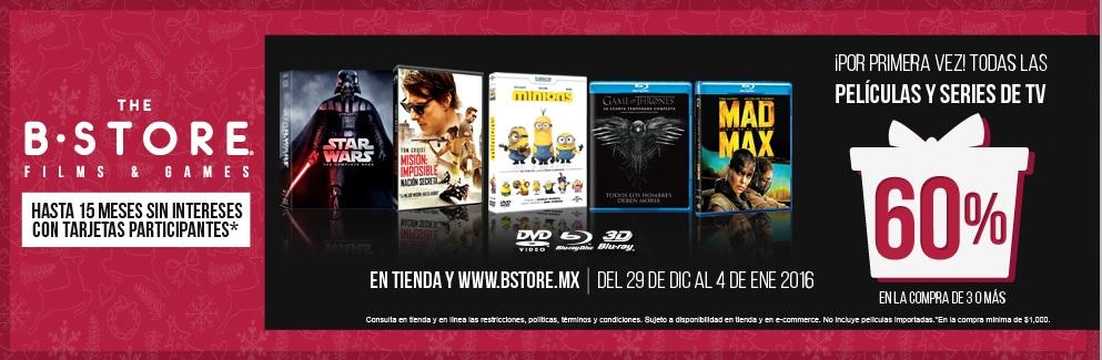 """The B Store 60% de Descuento en """"todas"""" las películas y series"""