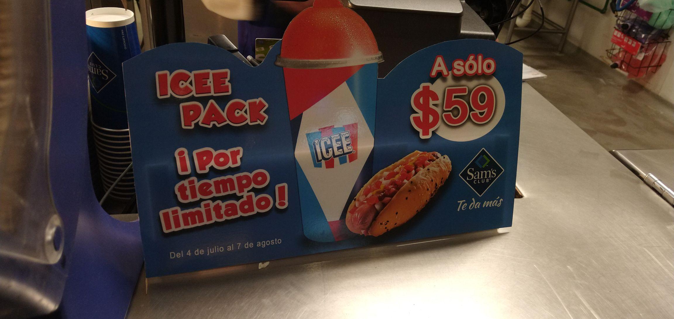 Sam's Club: Icee Pack (Icee + Hot dog)