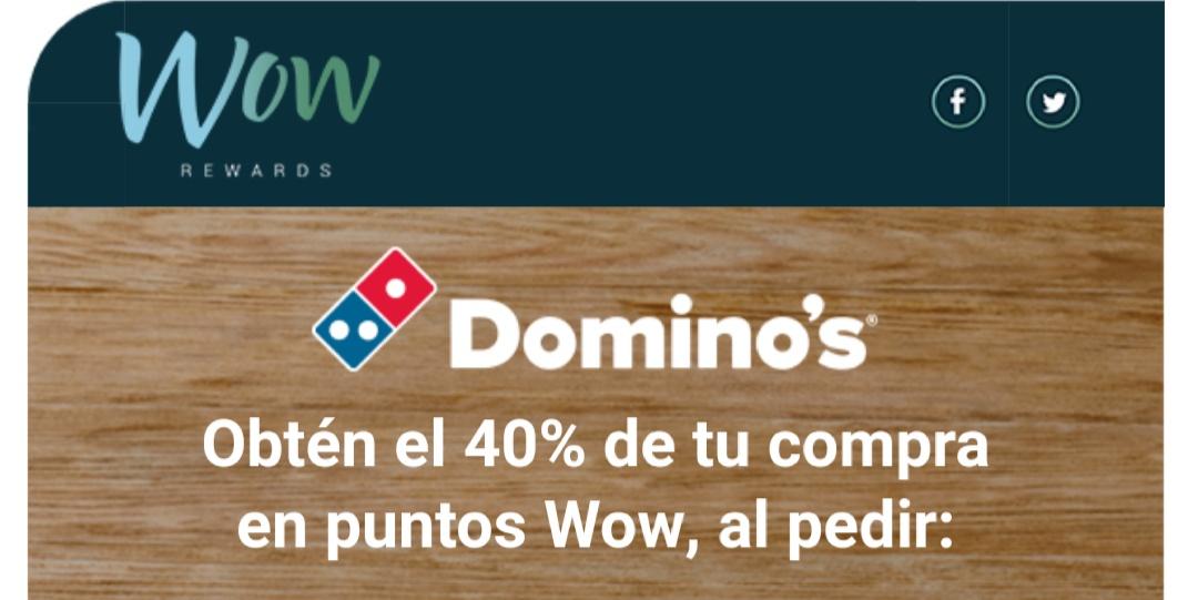 Domino's Pizza: 80% en puntos wow (40% real)
