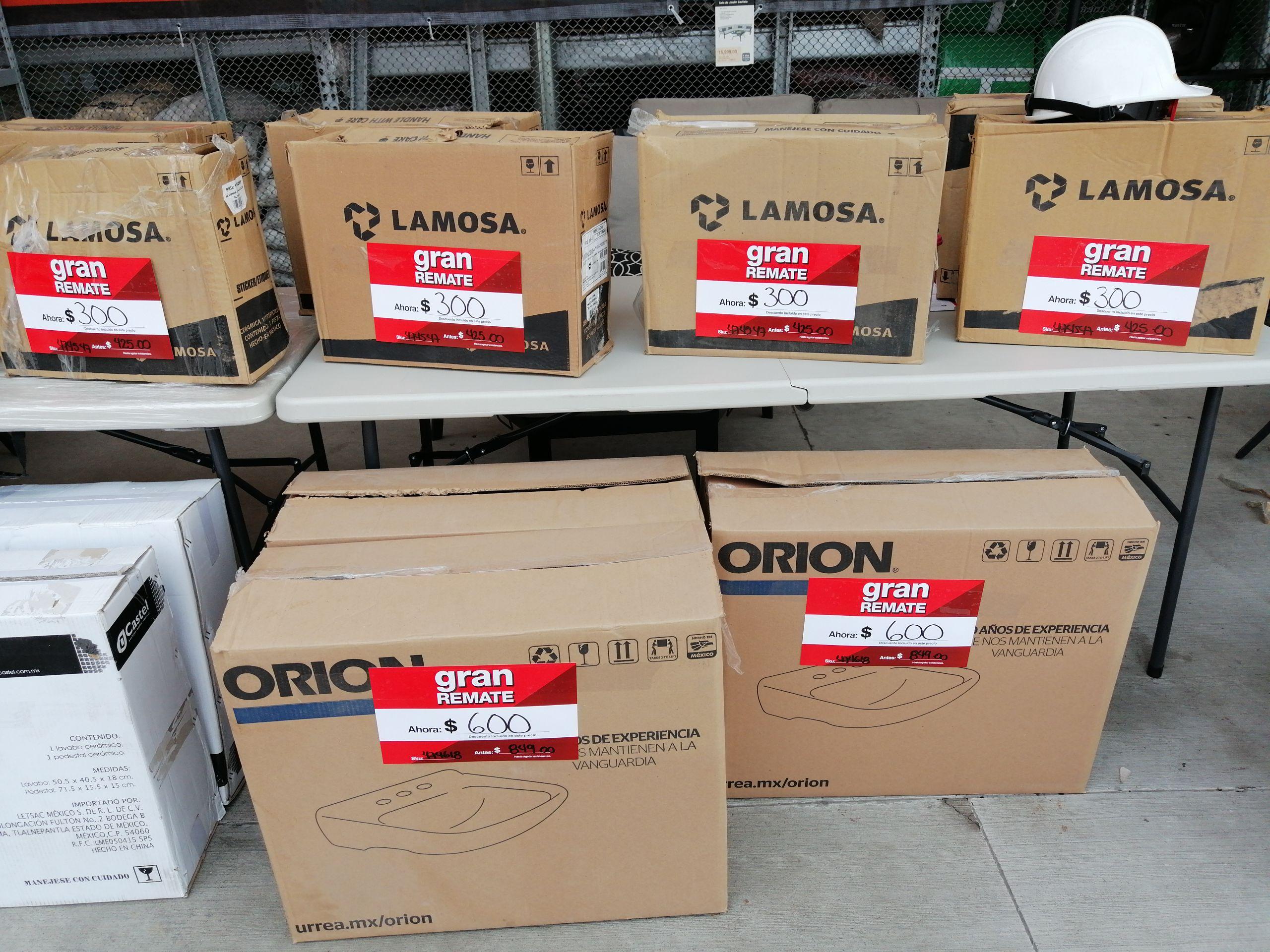 Promoción venta de lavabo con o sin pedestal de la marca Orion y Lamosa The Home Depot Salamanca, Guanajuato